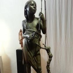 Il Vignarolo 1953-1954  scultura bronzea