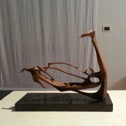 Ratto delle Sabine  1958-1962  scultura lignea