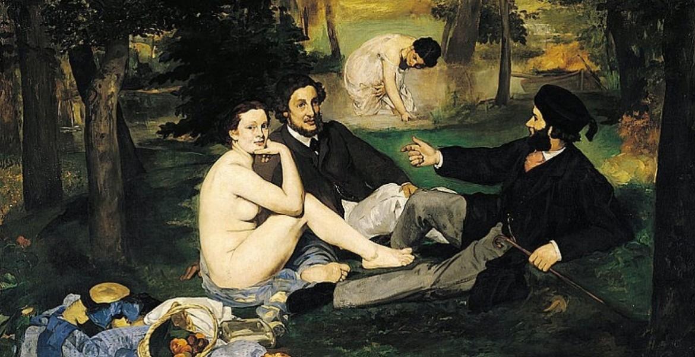 Colazione sull'erba  (Le déjeuner sur l'herbe) . É Manet