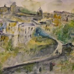 Verso Città Alta, Mura di San Lorenzo