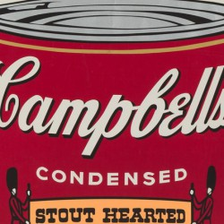 Campbell's Soup Hot Dog Bean, Andy Warhol (dettaglio)