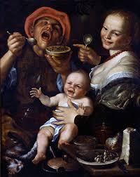 Mangiatori di fagioli, Vincenzo Campi (dettaglio)