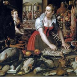 Cuoche in cucina, Marten de Vos (dettaglio)