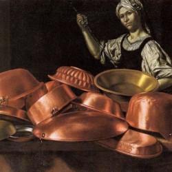 Cucina con rami e massaia, E.Baschenis (dettaglio)