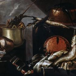 Composizione con pesci e crostacei, G.Battista Recco (dettaglio)