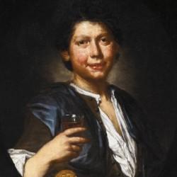 Ritratto con bicchiere di vino, Vittore Ghislandi (dettaglio)