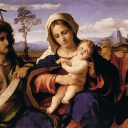 Madonna con il Bambino tra i santi Giovanni Battista e Maddalena (particolare)