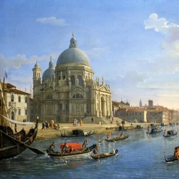 Gaspar Van Wittel, Veduta dell'ingresso del Canal Grande con la Chiesa della Salute (particolare)