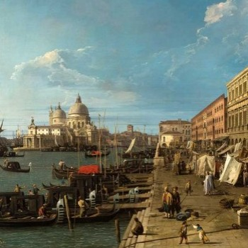 Canaletto, Il Molo con la Zecca e le colonne di San Teodoro (particolare)