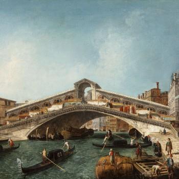 Michele Marieschi, Il Ponte di Rialto (particolare)