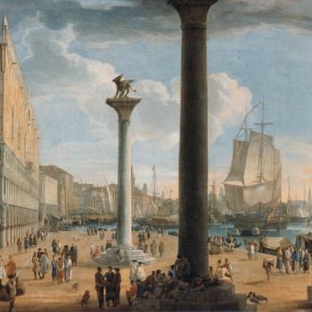 L. Carlevarijs, Il molo di San Marco verso la Basilica della Salute (particolare)