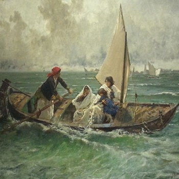 Traversata in laguna, Mosè Bianchi