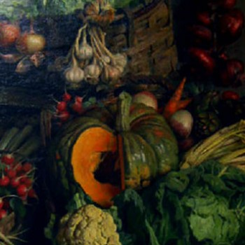 Natura morta di verdure, Arnaldo Ferragutti