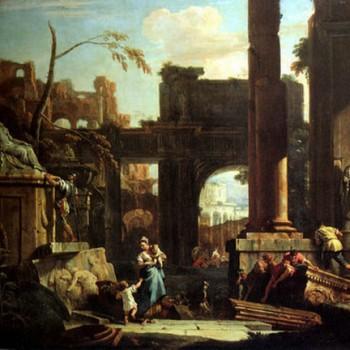 Prospettiva di rovine con figure, Sebastiano Ricci