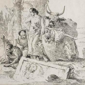 Scherzi di fantasia. Un giovane, un mago e una scimmia tra rovine antiche, Giambattista Tiepolo