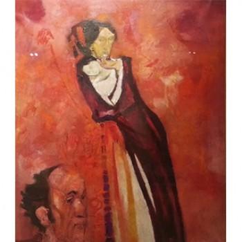 Madre e autoritratto in rosso