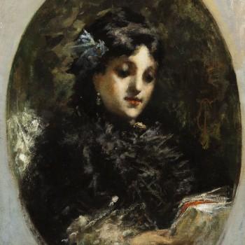 Ritratto dell'attrice Emma Ivon, Tranquillo Cremona