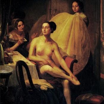 La danzatrice Maria Taglioni, Angelo Inganni