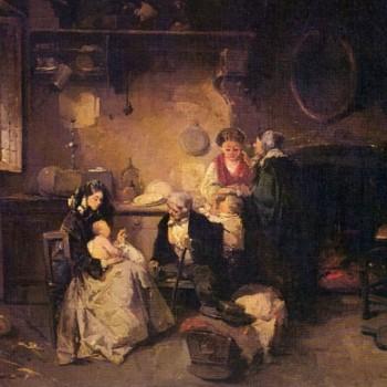 La visita alla balia, Domenico Induno