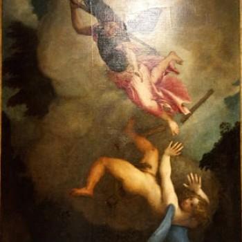 San Michele caccia Lucifero