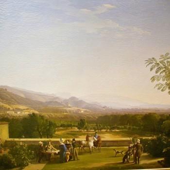 Fig 3- La veduta della Franciacorta dal giardino di Villa Ducco a Camignone,Luigi Basiletti