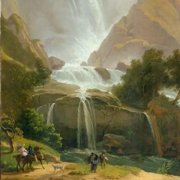 Fig 4- Le cascate del Velino presso Terni, Luigi Basiletti