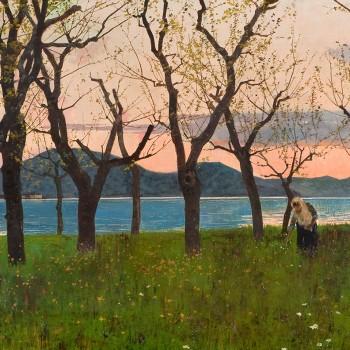 Fig 12- Tramonto sul lago di Iseo, Cesare Bertolotti