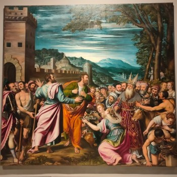 Fig-1 Simone Peterzano, Santi Paolo e Barnaba a Listra