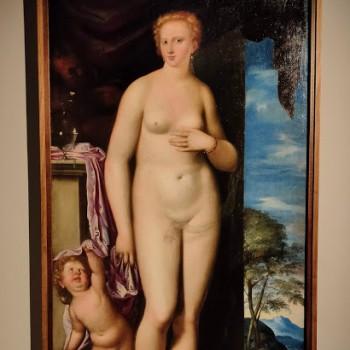 Fig-12 Simone Peterzano, Venere con cupido e un satiro