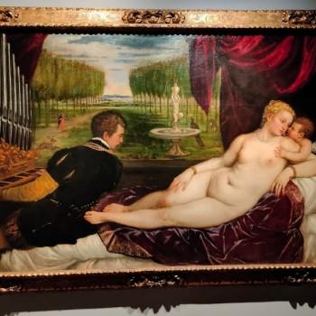 Fig-13 Tiziano Vecellio, Venere con cupido e suonatore di organo