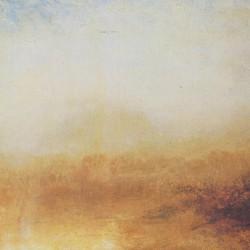 W.Turner, Paesaggio con fiume e montagne in lontananza